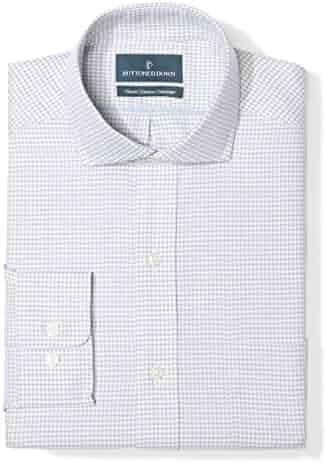 e8acf3b8edb2 Buttoned Down Men s Classic Fit Gingham   Stripe Pattern Non-Iron Dress  Shirt
