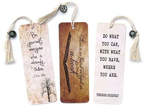 Motivational Classic Literary Quote Bookmarks featuring Wilde, Hemingway and Roosevelt
