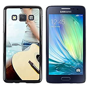 LECELL -- Funda protectora / Cubierta / Piel For Samsung Galaxy A3 SM-A300 -- Music Guitar Beach --