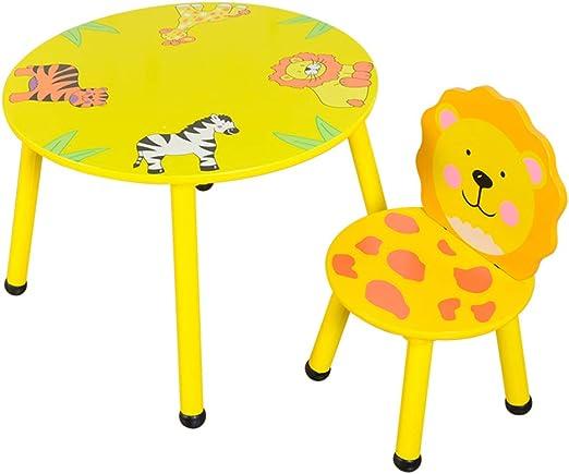 juego de mesa y silla para niños de Animales de Dibujos Animados ...