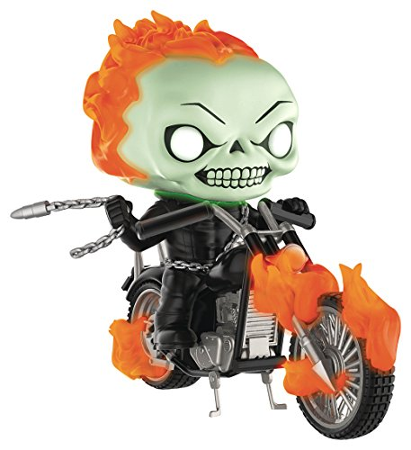 Funko Pop Rides: Marvel Classic Ghost Rider with Bike (Glow in the Dark Version) Vinyl Figure