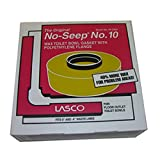 LASCO 04-3304 Extra Thick Toilet Bowl Wax Ring with Polyethylene Flange for 3-Inch and 4-Inch Waste Line