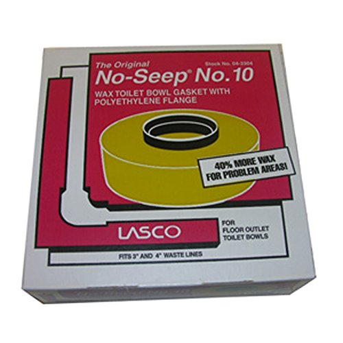 (LASCO 04-3304 Harvey's BOL 10 Extra Thick Wax Ring with Sleeve, for Use with 3 in, 4 in Waste Lines, 1-Pack)