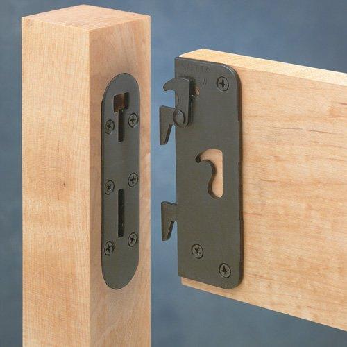 Locking Safety Bed Rail Brackets, Full Set - Locking Brackets