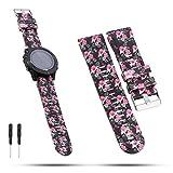 Feskio Garmin Fenix 5 Multisport GPS Watch Band 22mm Width Soft Silicone Quick Install Wristband Watch Strap Bracelet for Garmin Forerunner 935/Fenix 5/Approach S60/Quatix 5/Quatix 5 Sapphire