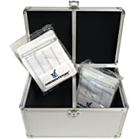 CheckOutStore Silver Aluminum CD/DVD Hanging Sleeves Storage Box (Holds 200 Discs)