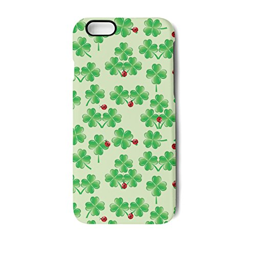 iPhone 7 Plus Case/iPhone 8 Plus Case Green Shamrock Ladybug Shock Proof/Anti-Finger/Anti-Scratch/Double Coverage/Max Protection Phone Case for iPhone ()