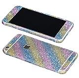 Just Mode(TM)Glittering Style Full Body Bling Glitter Film Sticker Case Cover Protector for Apple iPhone 6 4.7-Rainbow