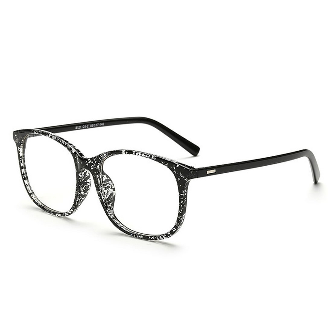 D.King Vintage Inspired Classic Square Glasses Frame Eyewear Clear Lens DK8121-1