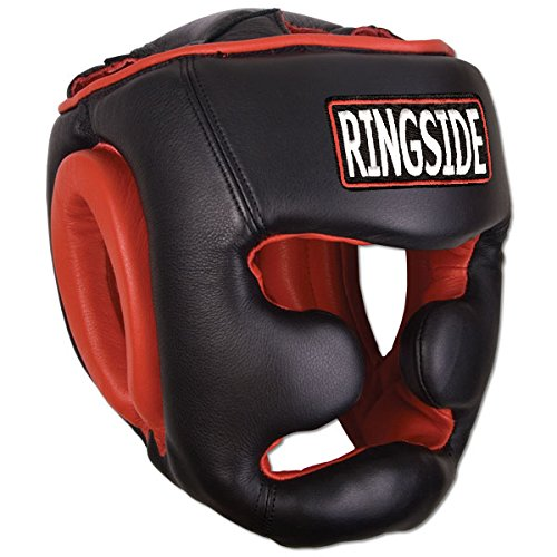 Ringside Full Face Training Boxing Headgear, Black, Medium