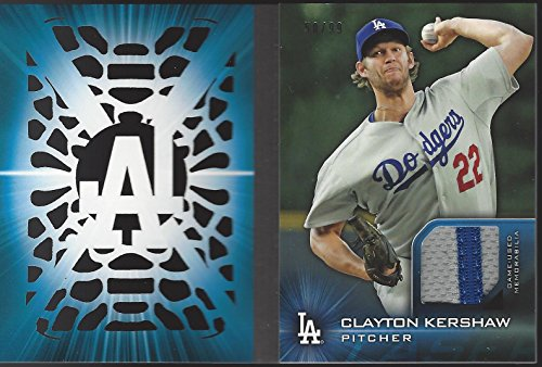 - Clayton Kershaw 2016 Topps Series One Laser Relic /99 Dodgers Booklet Patch