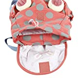 Labebe Baby Girls' Backpack with Leash to not Lose Your Children, Canvas Travel/School/Preschool Mini Bag with Anti-lost Belt, Little Toddler Kids Animal Rucksack - Orange Bunny