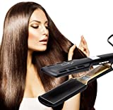 SwanMyst Professional Hair Straightener Flat Iron with Nano-Titanium 1.7 inch Plate, Digital LCD Display, 450℉ Salon High Heat Fast Heat Up, Dual Voltage 2
