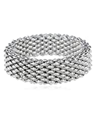 Stainless Steel High Polished Stretch Bracelet, 3.7""