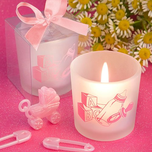 Fashioncraft Favor Saver Collection Baby Girl Themed Tea Light Candle 36 Baby Carriage Candle Favor