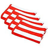 Friends & Home 4 Pack of 100% Cotton Red Cabana Stripe Beach Towels (30'' x 60'' each, GSM 425)