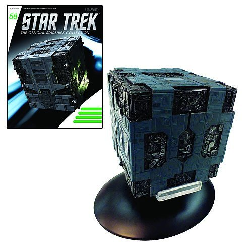 Star Trek Starships Borg Tactical Cube Die-Cast Vehicle with Collector Magazine (Cube Borg Trek Star)