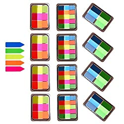 12 Sets Index Tabs,translucent Page Makers,it Post Flags,sheet Neon Index Tabs Flags Sticky Note For Page Marker, 800 Pieces