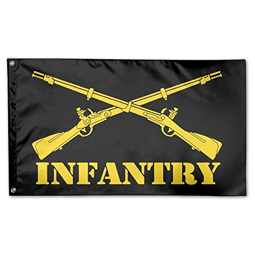 JUMEOW Army Infantry Branch Insignia Outdoor Flag Home Garden Flag Decorative Banner 3X5 Ft. Polyester