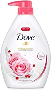Dove Go Fresh Rose and Pomegranate Paraben-Free Body Wash, 1L