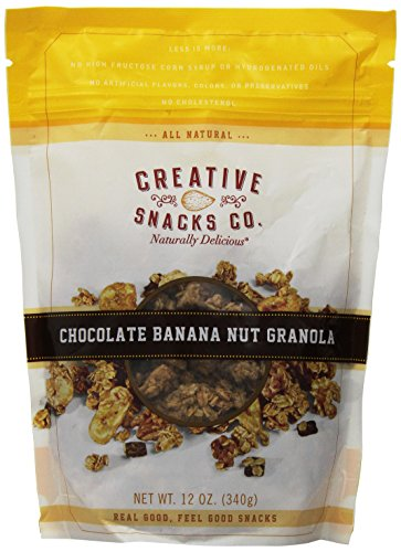 Cheap Creative Snacks Chocolate Banana Nut Granola Clusters, Great for Snacking or Cereal, 12 ounce bag