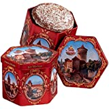 Wicklein Hexagonal Tin with 2 Sorts of Lebkuchen