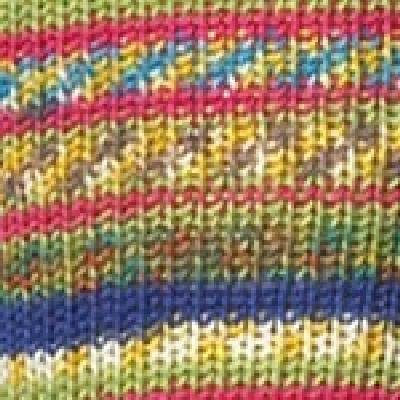 (100 gr Sock Wool Regia 4-ply Mix -it tropical color Col. 938)