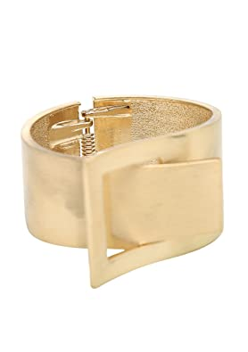 Young & Forever Geometric GleeGold Cuff Bracelet for Women Women's Bracelets at amazon