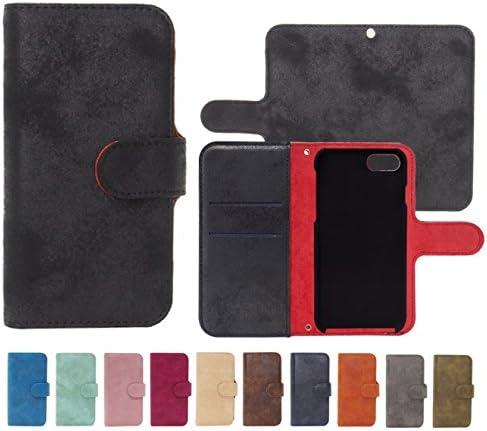 AQUOS PHONE SERIE SHL22 対応 ラムプレーン手帳型レザーケース カメラ穴搭載 スタンド機能付き ダイアリー スマホカバー 【A/ブラック】 アクオス フォン SHARP シャープ AKUOS ACUOS