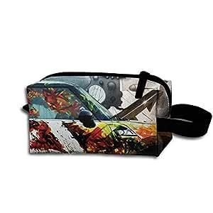 Outdoor Tavel Storage Tools Bag, Canvas Vehicle Graffiti Makeup Bags Cosmetic Bags