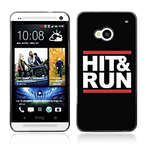 Designer Depo Hard Protection Case for HTC One M7 / Hit & Run Message