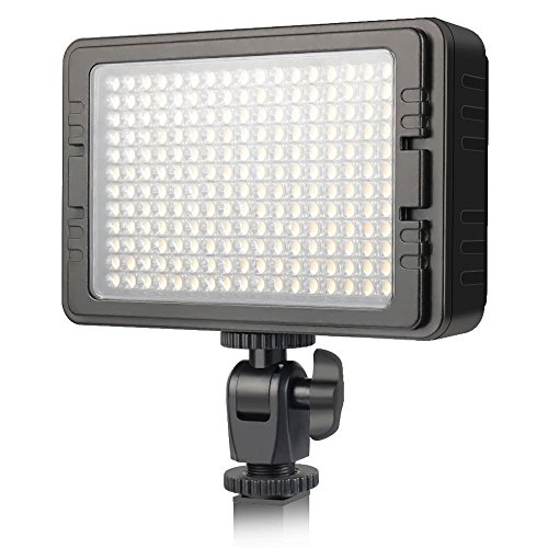 UTEBIT 204 Led Video Light 3200K-5600K Ultra B-right Dimmable Led Panel Lights with 2 Flitters for Nikon, Canon, Olympus, Pentax and other Cameras by UTEBIT