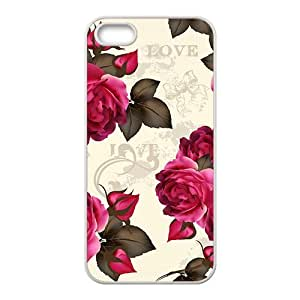 The Love Rose Hight Quality Plastic Case for Iphone 5s by icecream design
