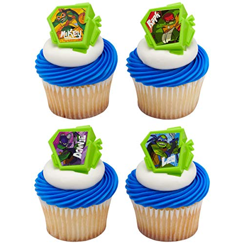 Teenage Mutant Ninja Turtles Cupcakes (24 Rise of The Teenage Mutant Ninja Turtles TMNT Cupcake Rings Party)