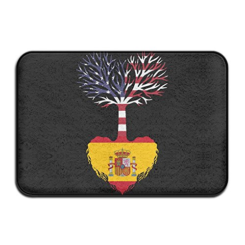 HONMAt-Non American Grown Spain Root Indoor Outdoor Entrance Rug Non Slip Bath Rugs Doormat Rugs For Home by HONMAt-Non