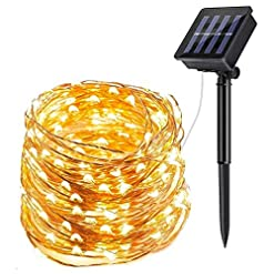 Garden and Outdoor ECOWHO Solar String Lights Outdoor, 72ft 200 LED Solar Powered Fairy Lights Waterproof Decorative Lighting for Patio… outdoor lighting