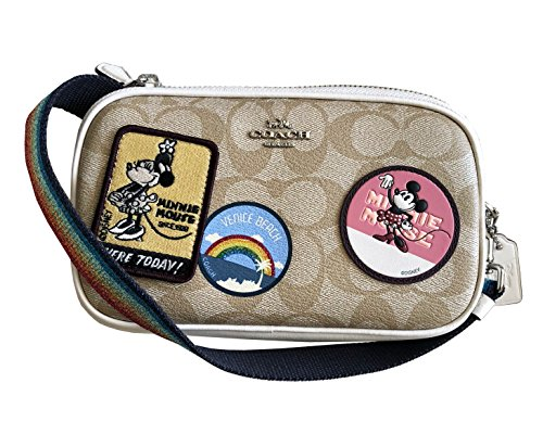 X Disney Crossbody Signature Mouse Pouch Khaki Minnie Light F31349 Coach dgFwqd