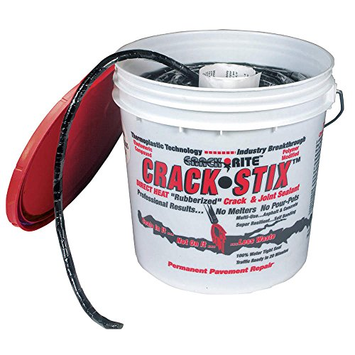 CRACK STIX Blacktop Crack Repair, 1/2 D, 125ft, Black