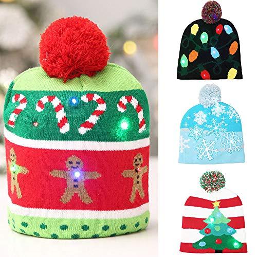 De Hiver Christmas Tailleur Poils Costume Accessoires Cadeau Vetement Anniversaire Deguisement Ça Enfants Maille Angelof Bébé Fille Bambin Lumineux Noir Chapeau Noël Brille RwqSWCwxB5