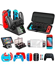 Accessories kit Bundle Compatible with Nintendo Switch, OIVO All in 1 Accessories Bundle Kit Compatible with Nintendo Switch Console