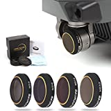 DJI Mavic Pro Camera Filters Set. Sharewell 4 Pieces Filter Kit for DJI Mavic Pro Drone Quadcopter. ND4 ND8 ND16 ND32 Neutral Density Filter