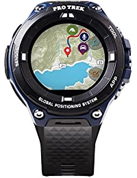 Men's Pro Trek Outdoor GPS Resin Sports Watch, Color: Black & Indigo Blue (Model WSD-F20A-BUAAU)
