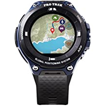"Casio Men's""Pro Trek"" Outdoor GPS Resin Sports Watch, Color: Black & Indigo Blue (Model WSD-F20A-BUAAU)"
