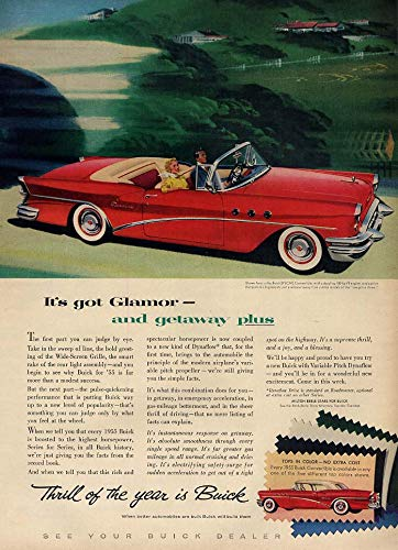 It's got glamor & getaway plus Buick Special Convertible ad 1955 L ()