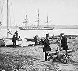 Alexandria, Va. Steam frigate Pensacola 1862 Vintage Black & White Photograph e4
