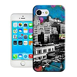 LarryToliver Customize Protective Case Black and White Houses Back Cover Case for iphone 5C
