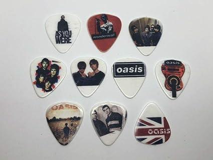 Amazon.com: Oasis Juego de púas para guitarra (10 púas/10 ...