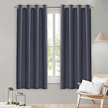 Charmant Lefeng Blackout Curtains Room Darkening Solid Thermal Insulated Grommet  Black Out Window Curtain For Living Room/Bedroom 3 Year Warranty (2 Panels,  ...