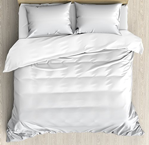 Ambesonne Candy Cane King Size Duvet Cover Set, Horizontal B