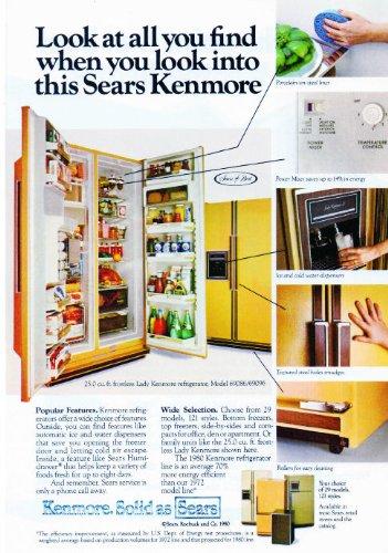 Amazon com : 1980 Sears Kenmore Refrigerator Vintage Retro